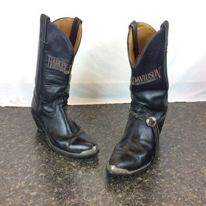 Harley Davidson Boots 8606 Sz 8.5 M Embroidered